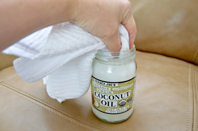 how to get coconut oil out of fabric couch